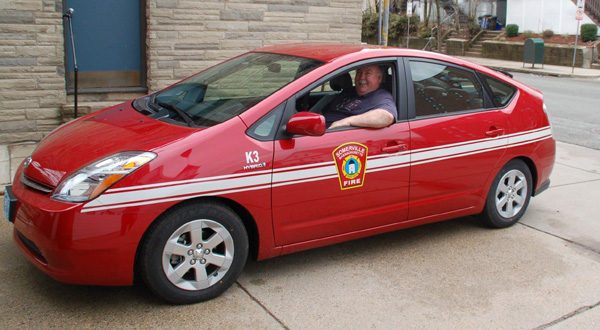 Lt. Vinny McLaughlin Shows Off One Of Four Toyota Prius Hybrid Vehicles  Placed In Service On March 5, 2008. The New Hybrids Are Replacing Older  Ford Crown ...